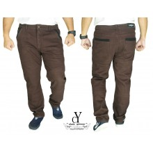 CY  2552 [ BROWN ] CASUAL KPOP SLIM KOREA PANTS SELUAR PLUS SIZE BESAR COTTON
