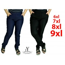 CY 3693 WOMAN CASUAL PANTS BIG PLUS SIZE SELUAR SIZE BESAR XXXL 4XL 5XL 6XL
