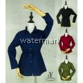 CY 410 LADY CASUAL SLIM LINE COLAR BLOUSE SHIRT OFFICE WEAR