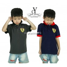 CY 63648 CASUAL COLAR SHIRT BUDAK POLO KIDS COLAR CHILDREN BOY FERRARI