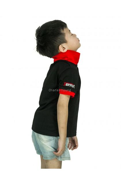 CY 63648 CASUAL COLAR SHIRT BUDAK POLO KIDS COLAR CHILDREN BOY FERRARI