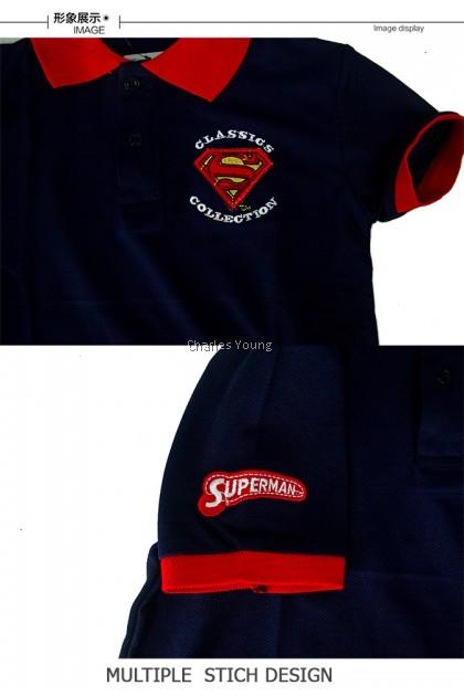 CY 061151 CASUAL COLAR SHIRT BUDAK POLO KIDS COLAR CHILDREN BOY JUSTICE LEAGUE SUPERMAN
