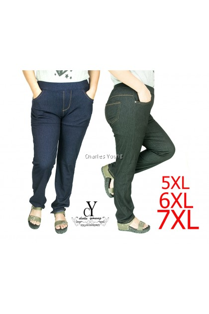 CY 918 WOMAN CASUAL PANTS BIG PLUS SIZE SELUAR SIZE BESAR  6XL 7XL