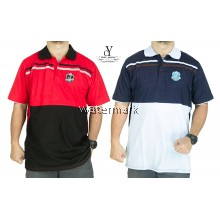 CY 3249B [ RED / DARK BLUE ] MAN CASUAL POLO COLAR SHIRT BIG SIZE PLUS 7XL