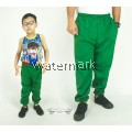 CY 355 [ GREEN ] TRACK BOTTOM SPORT PANT SWEAT PANT SCHOOL GYM  YOGA KID ADULT