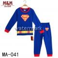 CY 149222 CHILDREN KID PYJAMAS SLEEPWEAR DISNEY CARTOON SUPERMAN MAN OF STEEL