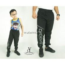 CY 2115 BLACK TRACK BOTTOM SPORT PANT SWEAT PANT SCHOOL GYM  YOGA KID ADULT