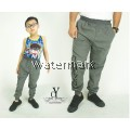 CY 2115 GREY TRACK BOTTOM SPORT PANT SWEAT PANT SCHOOL GYM  YOGA KID ADULT