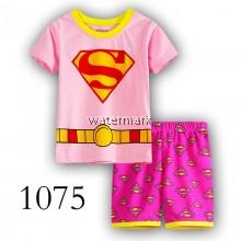 CY 149222 CHILDREN GIRL SUIT PASANG BUDAK SHORT PYJAMAS DISNEY SUPERMAN JUSTICE LEAGUE