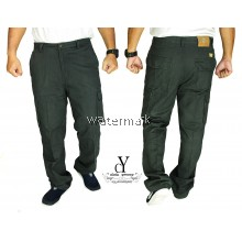 CY 805 [ DARK GREY ] CASUAL CARGO PANTS SELUAR KERJA WORKMAN REPAIRMAN COTTON