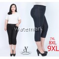 CY 3839 WOMAN CASUAL SHORT PANTS BIG PLUS SIZE SELUAR SIZE BESAR  7XL 8XL 9XL