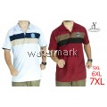 CY 64246 [LIGHT BLUE /MAROON  ] MAN CASUAL POLO COLAR SHIRT BIG SIZE PLUS 7XL