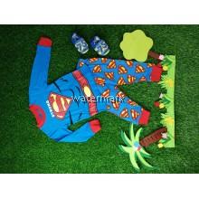 CY 153718 CHILDREN  SUIT PASANG BUDAK PYJAMAS DISNEY SUPERMAN