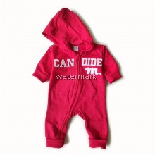 CY 154411 ROMPER BABY WITH CAP BABY GAP RED GREY