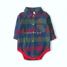 CY 154412 ROMPER BABY LONG SLEEVE PLAID GENTLEMEN