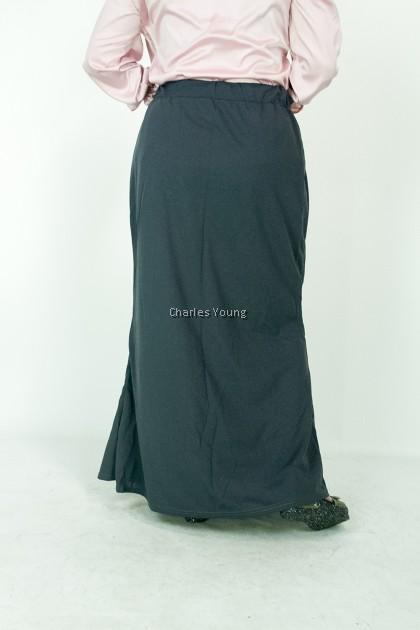 CY 18888 PLUS SIZE LONG SKIRT KAIN PANJANG MUSLIMAH DRESS A-LINE BESAR