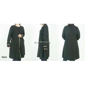 CY 001 WOMAN OVERCOAT MUSLIMAH BLOUSE SHIRT PEREMPUAN KOREA PLUS SIZE