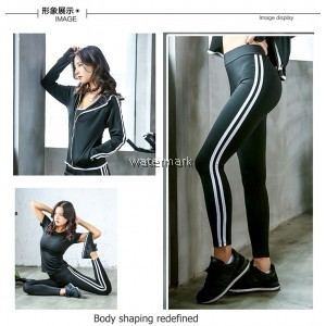 CY A51 PLUS SIZE YOGA GYM ZUMBA AEROBIC RUNNING SWEATER PANT SUIT