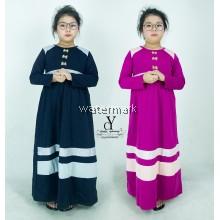 CY 1284 PLUS SIZE GIRL KID JUBAH DRESS MUSLIMAH / JUBAH KURUNG  BUDAK PEREMPUAN