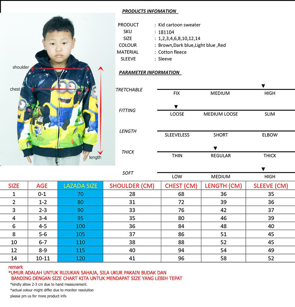 CY 181104 JACKET SWEATER DISNEY KID CHILDREN DESPICABLE ME MINION / JACKET SWEATER BUDAK