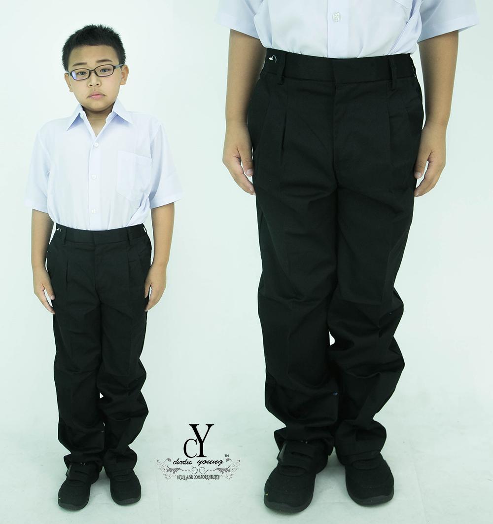 CY 8054BK SELUAR PANJANG HITAM SEKOLAH UNIFORM / SCHOOL LONG BLACK PANTS /