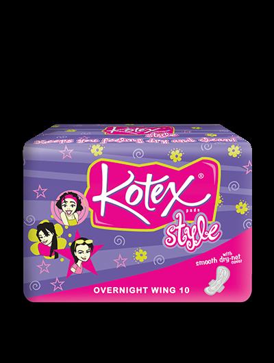 KOTEX STYLE OVERNIGHT WING 10\'s