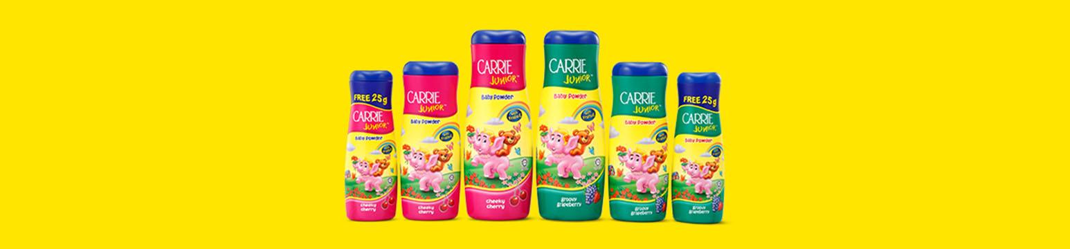 Carrie Junior Baby Powder Cheeky Cherry 125g 280g 450g