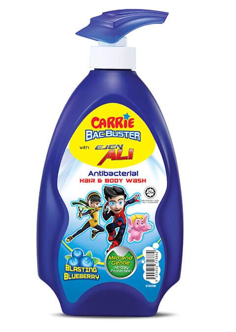 CARRIE JUNIOR SUPER HAIR & BODY WASH BLASTING BLUEBERRY 280ML 700ML