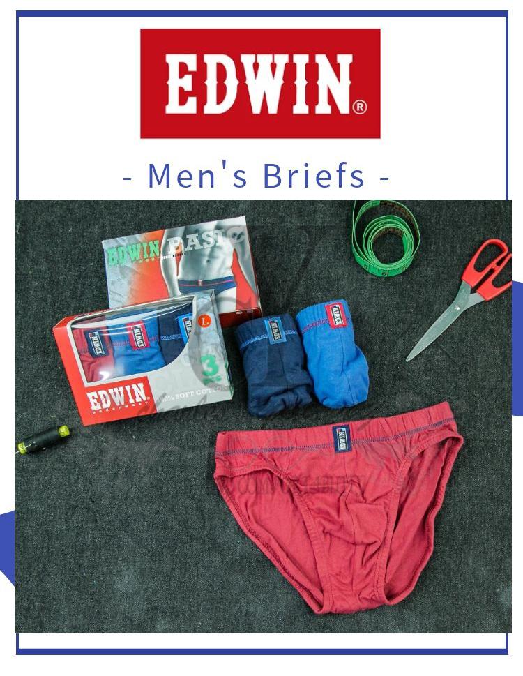 100% ORIGINAL EDWIN MAN UNDERWEAR BRIEF / SELUAR DALAM LELAKI / 100% COTTON /