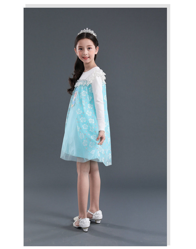CY 8988 MUSLIMAH MUSLIM DISNEY PRINCESS FROZEN DRESS ANNA ELSA / GAUN MUSLIMAH
