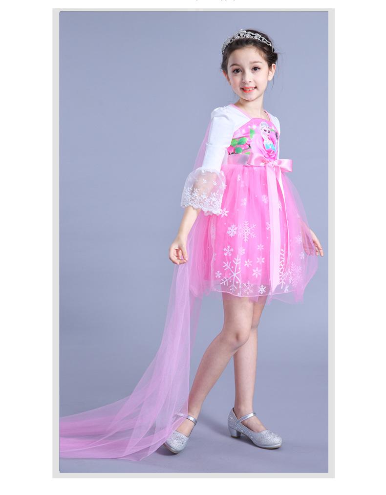 CY 8965 MUSLIMAH MUSLIM DISNEY PRINCESS FROZEN DRESS ANNA ELSA / GAUN MUSLIMAH