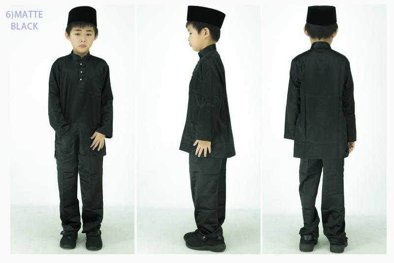 CY 7416 BAJU MELAYU MUSLIM MUSLIMIN KIDS BUDAK BABY EMERALD GREEN / BLACK / CHILI RED / ROYAL BLUE / PURPLE / BROWN