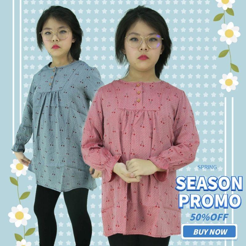 CY 822 KOREA STYLE MUSLIMAH BLOUSE SHIRT KIDS CHILDREN / BLOUSE BUDAK PEREMPUAN BAJU KURUNG