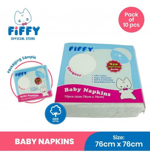 FIFFY BABY NAPKINS CHEQUER (10PCS) 98-881
