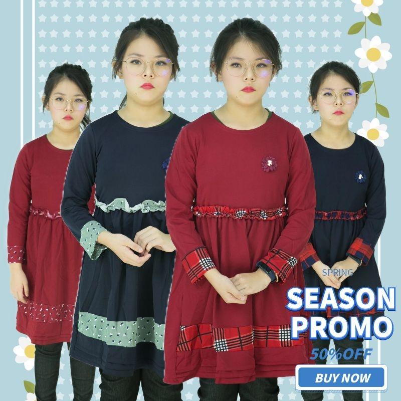 CY 4681 KOREA STYLE MUSLIMAH BLOUSE SHIRT KIDS CHILDREN / BLOUSE BUDAK PEREMPUAN BAJU KURUNG