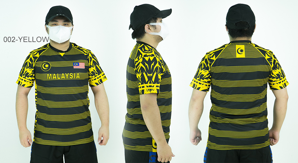 CY S112 QUICK DRY GYM WORKOUT EXERCISE MARATHON TRAINING SPORT SHIRT JC / SHIRT HARIMAU MALAYSIA / JERSEY SHIRT
