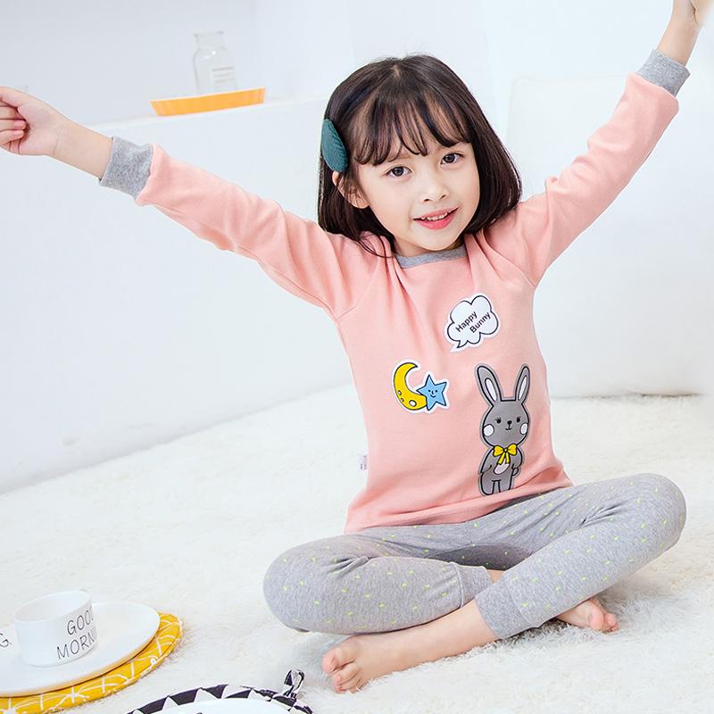 CY 162555 CHILDREN SUIT PASANG BUDAK PYJAMAS RABBIT PEACH 100-160