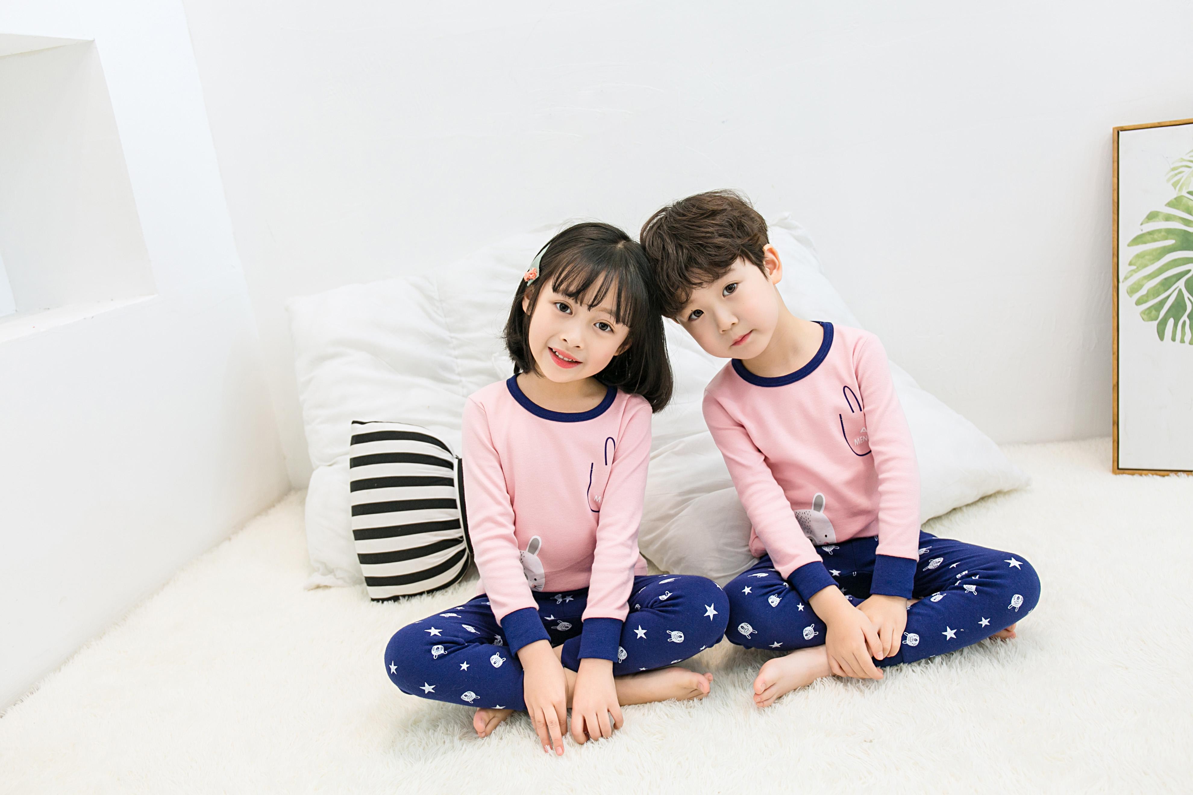 CY 162565 CHILDREN SUIT PASANG BUDAK PYJAMAS AIMEYA PINK 100-160