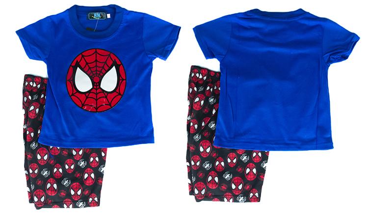 CY-8937 KID CHILDREN SUPERHERO SUIT SHIRT PANT SPIDERMAN AVENGERS