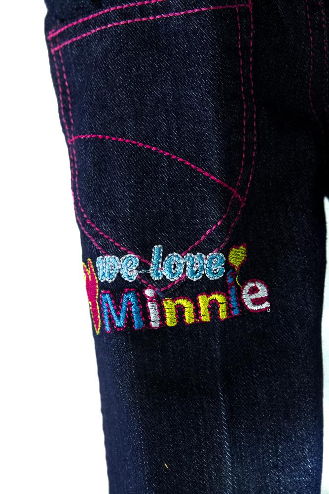 CY-64282 CHILDREN KIDS GIRL LONG DENIM JEANS PANT DISNEY MICKEY MINNIE CARTOON