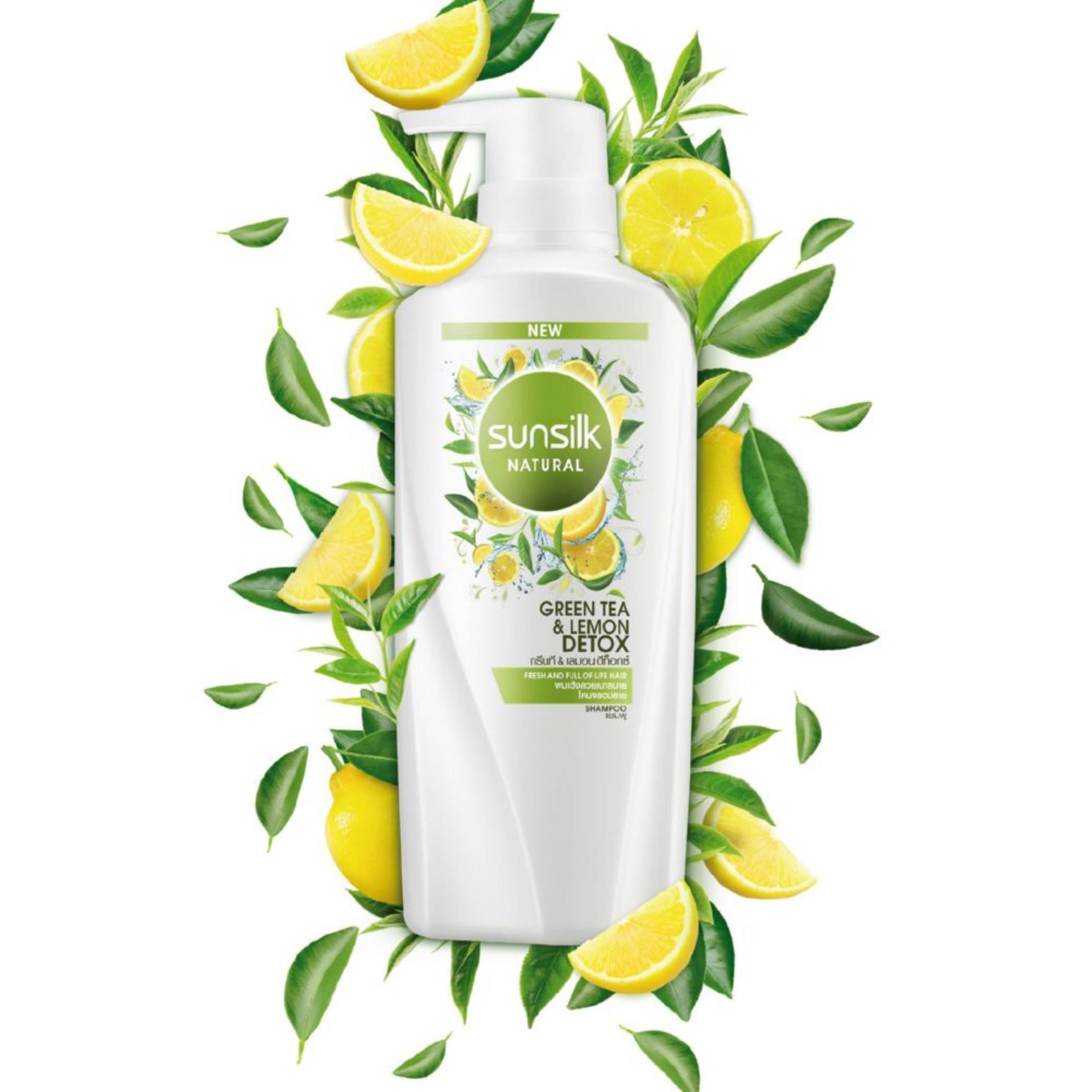 SUNSILK Natural Green Tea & Lemon Detox Shampoo (450ML)