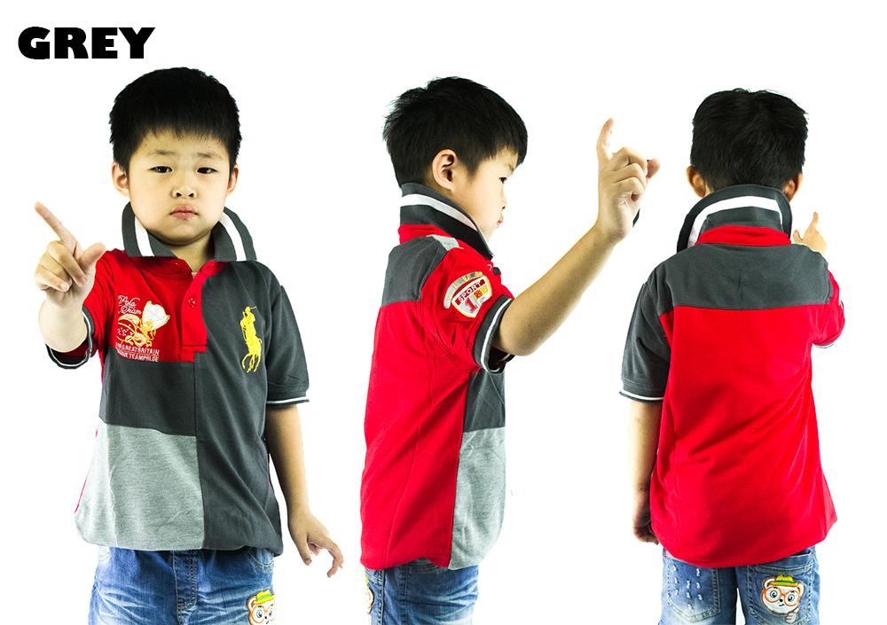 CY-84474 SHIRT BUDAK POLO KIDS COLAR CHILDREN BOY
