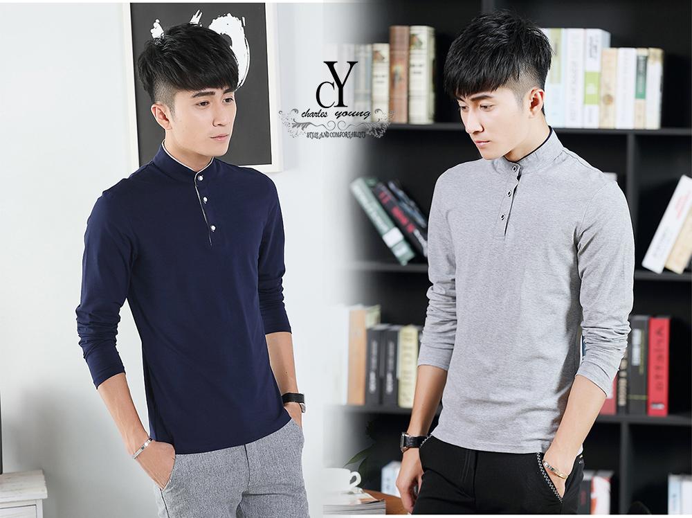 149d1591ff2 cy t072 man kpop casual office wear korean polo shirt plus size