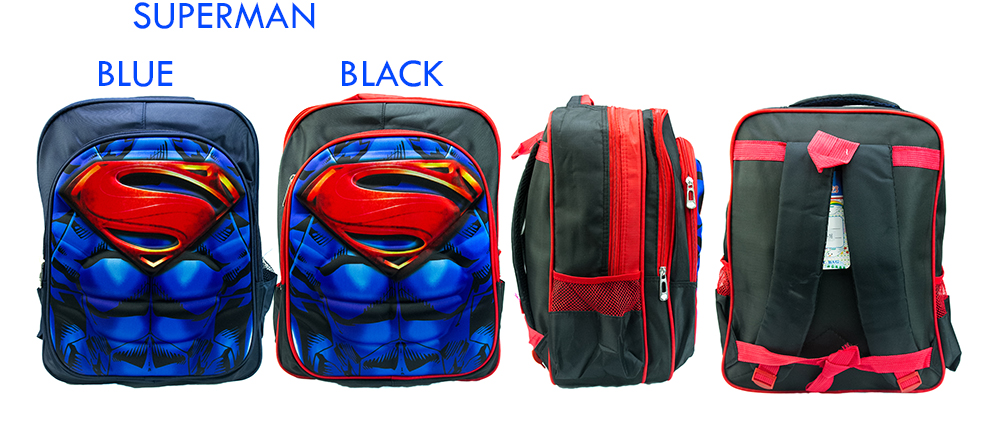 CY 016 SCHOOL BAG SEKOLAH CARTOON 3D DISNEY MARVEL SUPERHERO IRONMAN CAPTAIN AMERICA SPIDERMAN