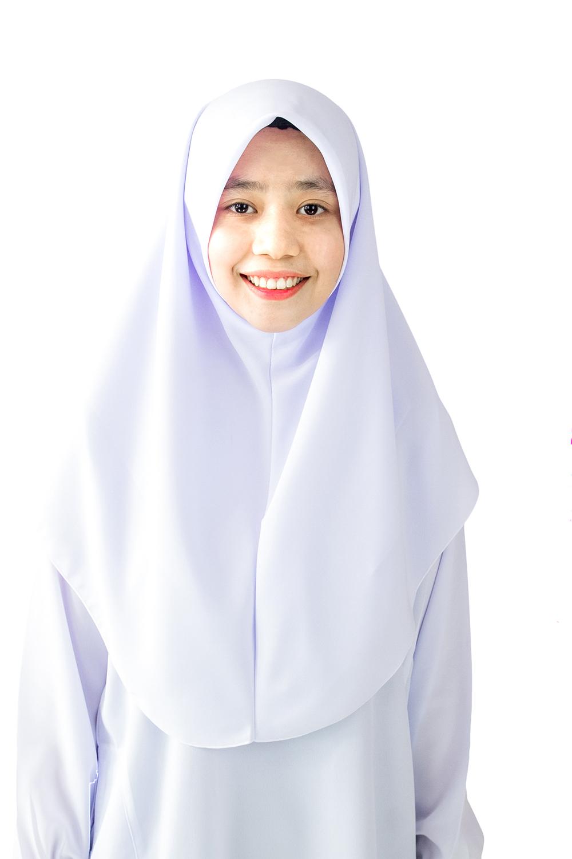 Cy 122017 Putih Pakaian Tudung Hijab Sekolah Koshibo