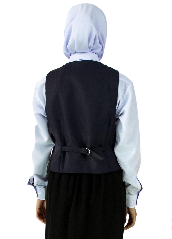 CY  122017 ( DARK BLUE )  PAKAIAN VEST SEKOLAH BIRU