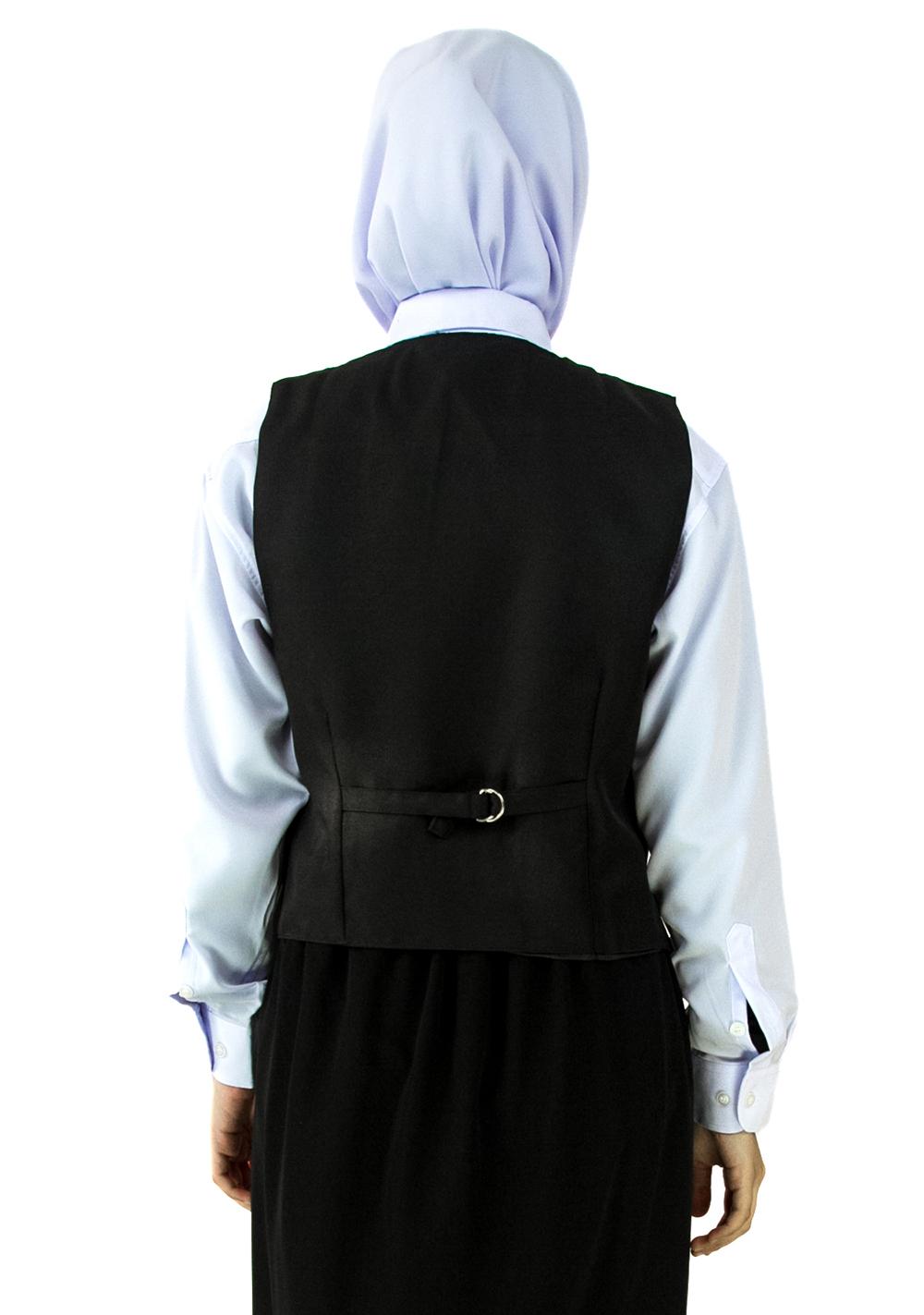 CY  122017 ( BLACK )  PAKAIAN VEST SEKOLAH HITAM