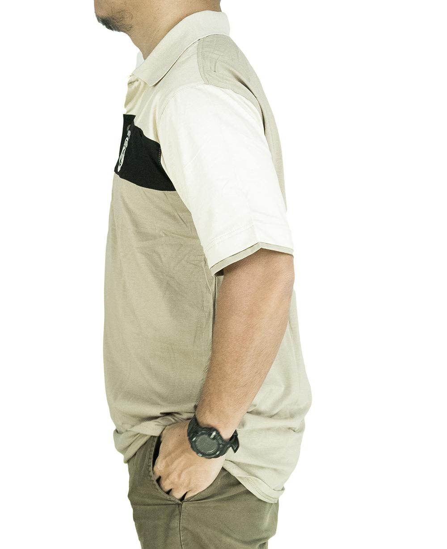 CY 3241 [ YELLOW / BLACK ] MAN CASUAL POLO COLAR SHIRT BIG SIZE PLUS 5XL 6XL 7XL