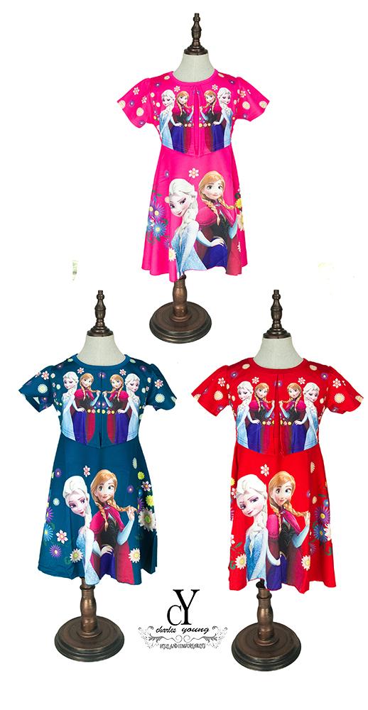 CY 1541 DISNEY PRINCESS DRESS  GAWN FROZEN ANNA ELSA
