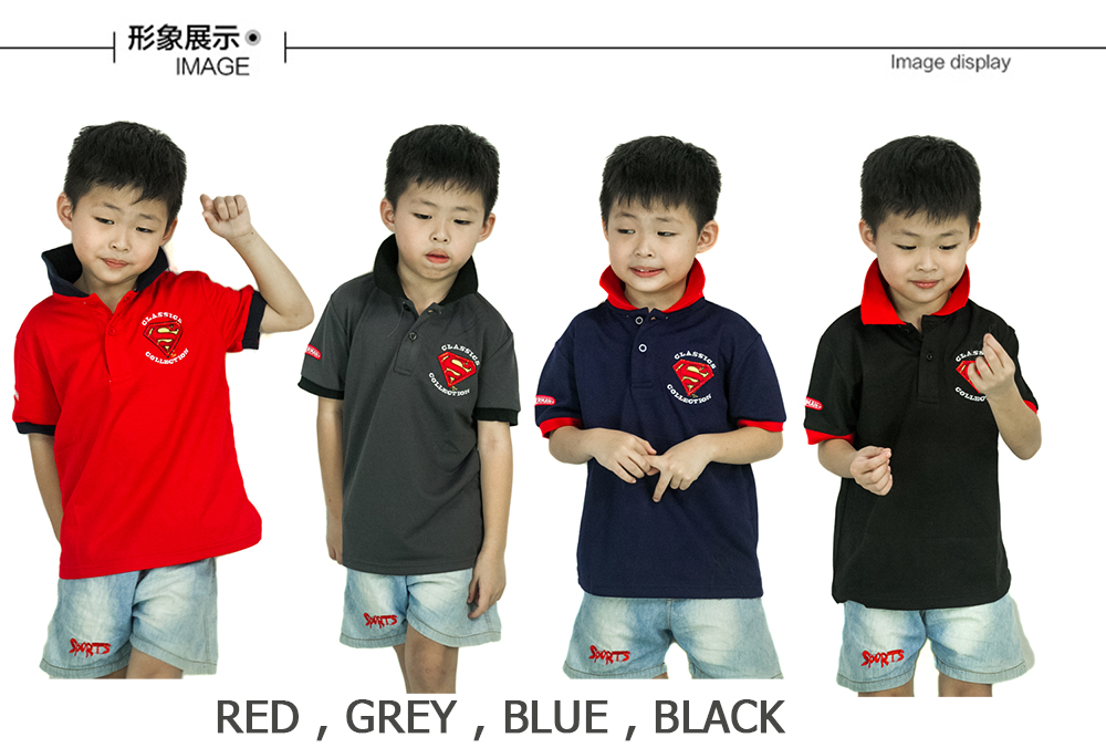 CY 061151 CASUAL COLAR SHIRT BUDAK POLO KIDS COLAR CHILDREN BOY JUSTICE LEAGUE SUPERMAN